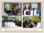 digital library training provided by atifa and yan 2006 2007
