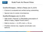 dodd frank act recent rules2