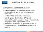 dodd frank act recent rules5
