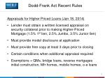 dodd frank act recent rules6