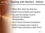 dealing with bankers advice1