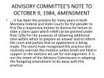 advisory committee s note to october 9 1984 amendment