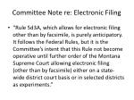 committee note re electronic filing