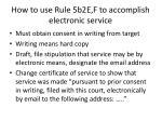 how to use rule 5b2e f to accomplish electronic service
