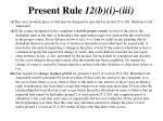present rule 12 b i iii