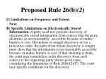 proposed rule 26 b 2