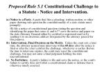 proposed rule 5 1 constitutional challenge to a statute notice and intervention