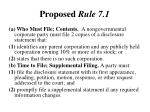 proposed rule 7 1