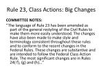 rule 23 class actions big changes