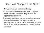 sanctions changed less bite
