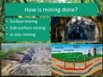 how is mining done