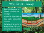 what is in situ mining