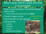 what is peat where is peat and how is it harvested