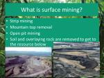 what is surface mining