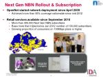 next gen nbn rollout subscription