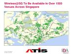 wireless@sg to be available in over 1500 venues across singapore