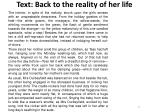 text back to the reality of her life