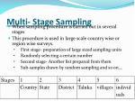 multi stage sampling