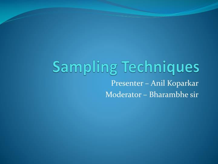 sampling techniques n.
