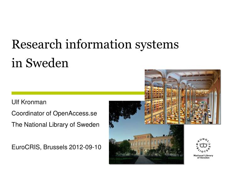 research information systems in sweden n.
