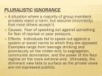pluralistic ignorance