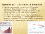 strongly held convictions of a minority