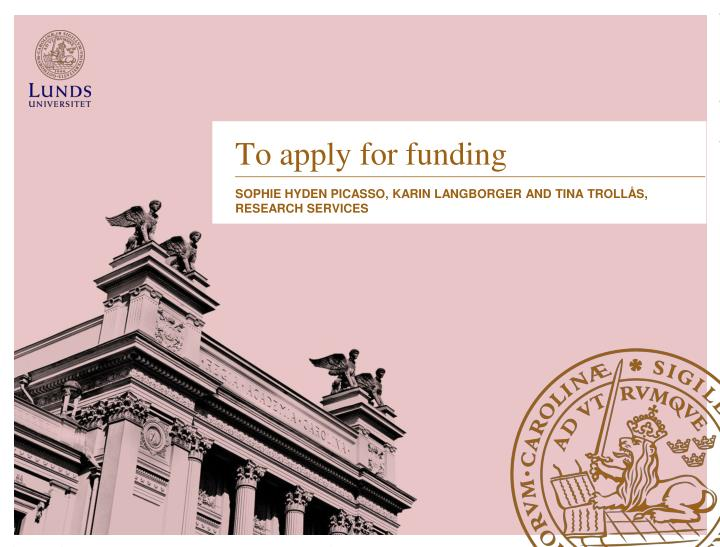 to apply for funding n.