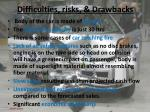 difficulties risks drawbacks