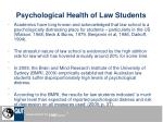 psychological health of law students
