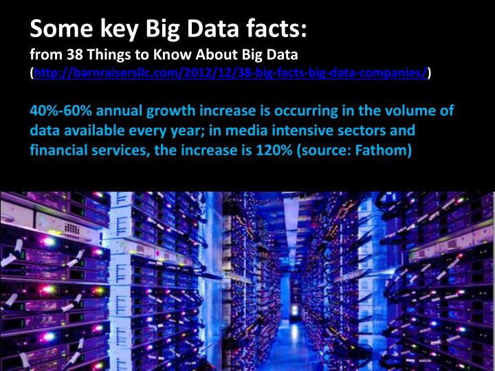 Some key Big Data facts:
