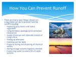 how you can prevent runoff