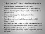 online courses collaboration team members