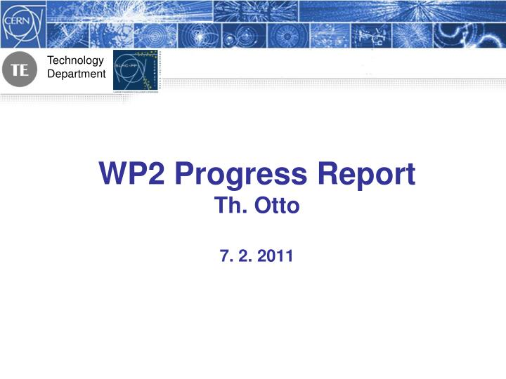 wp2 progress report th otto 7 2 2011 n.