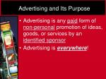 advertising and its purpose