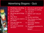 advertising slogans quiz