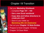 chapter 19 transition