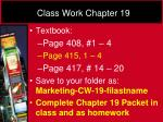 class work chapter 19