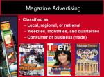 magazine advertising