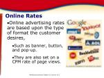 online rates