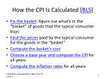 how the cpi is calculated bls