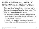 problems in measuring the cost of living unmeasured quality changes