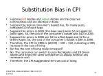 substitution bias in cpi