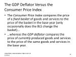 the gdp deflator versus the consumer price index3