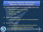economic engines technology magnets tourism gateways