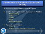 small community airport access program scaap