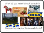 what do you know about sweden