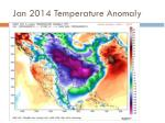 jan 2014 temperature anomaly