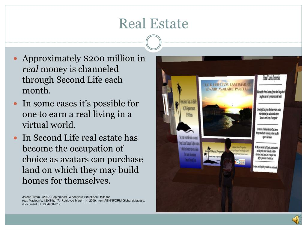 PPT - Second Life PowerPoint Presentation - ID:1677629
