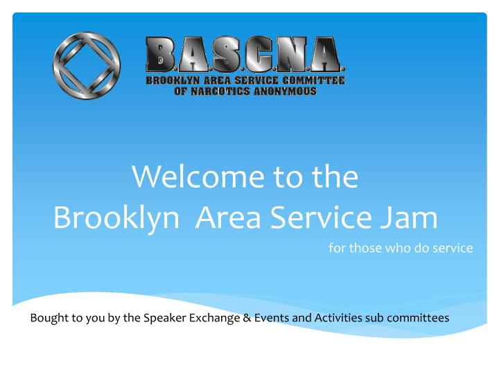 welcome to the brooklyn area service jam n.