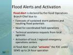 flood alerts and activation